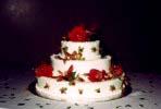 Lorna's first wedding cake