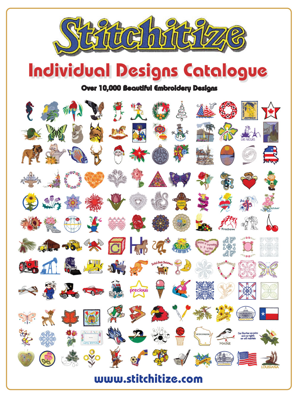 Printable catalogues custom embroidery designs by stitchitize bankloansurffo Gallery